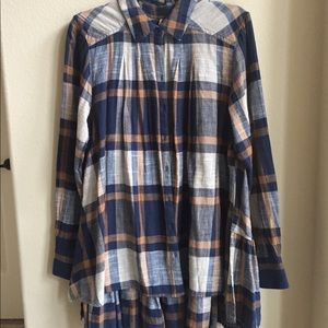 Free People Peppy in Plaid Tunic